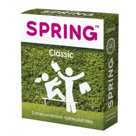 Классические презервативы SPRING CLASSIC - 3 шт.