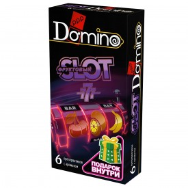 """Ароматизированные презервативы DOMINO """"Фруктовый слот"""" - 6 шт."""