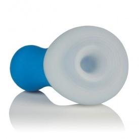 Голубой мини-вибратор Posh Silicone Ice Massager Tease со съемной насадкой для заморозки
